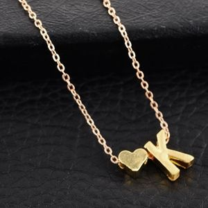 Jewelry - Gold/Silver Heart & K Initial Necklace